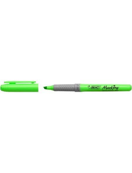 Bic Highlighter Grip Μαρκαδόρος Υπογράμμισης Πράσινος 3.3mm