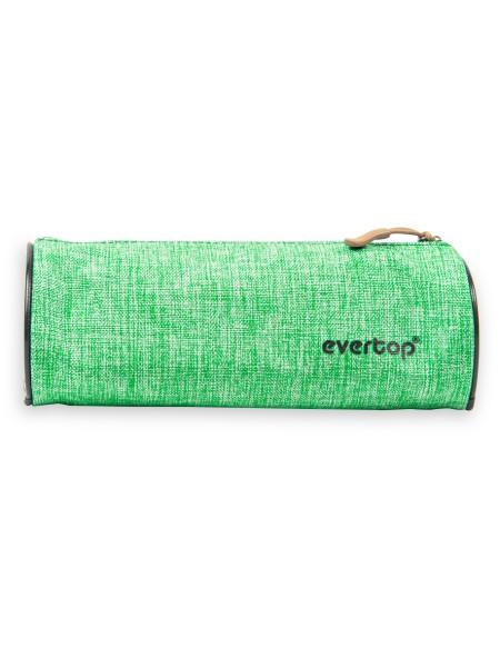 Κασετίνα Στρογγυλή Υφασμάτινη 20cm Πράσινο Evertop