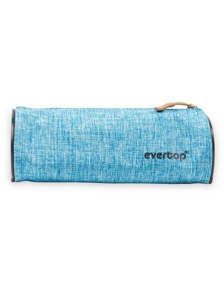 Κασετίνα Στρογγυλή Υφασμάτινη 20cm Μπλε Evertop