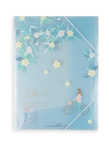 Φάκελος πλαστικός με λάστιχο μπλε Spree Tree Blossom