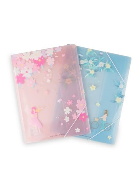 Φάκελος πλαστικός με λάστιχο ροζ Spree Tree Blossom