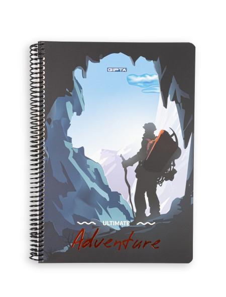 Τετράδιο σπιράλ 2 θεμάτων Adventure 17x24