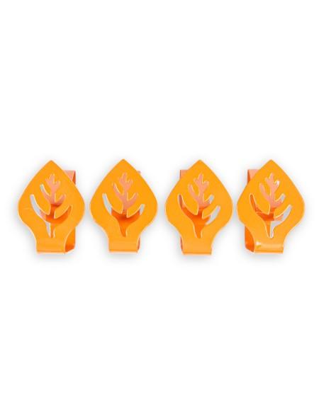 Πιαστράκια Μεταλλικά Τραπεζομάντηλου Πορτοκαλί σετ 4 τεμαχίων