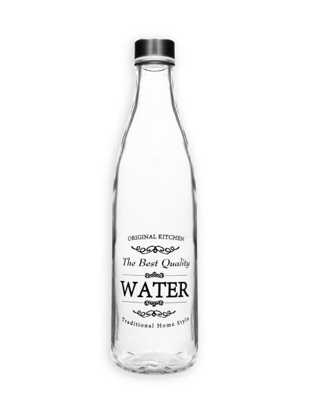Μπουκάλι γυάλινο νερού με βιδωτό καπάκι 1L
