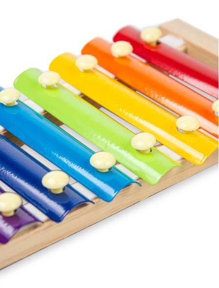 Παιδικό ξύλινο ξυλόφωνο με 8 μεταλλικές πλάκες