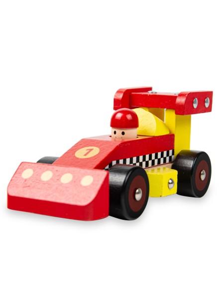 Παιδικό παιχνίδι φόρμουλα ξύλινη κόκκινη