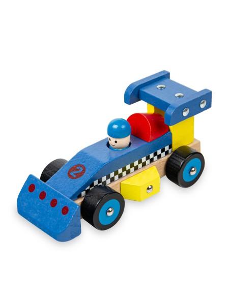 Παιδικό παιχνίδι φόρμουλα ξύλινη μπλε