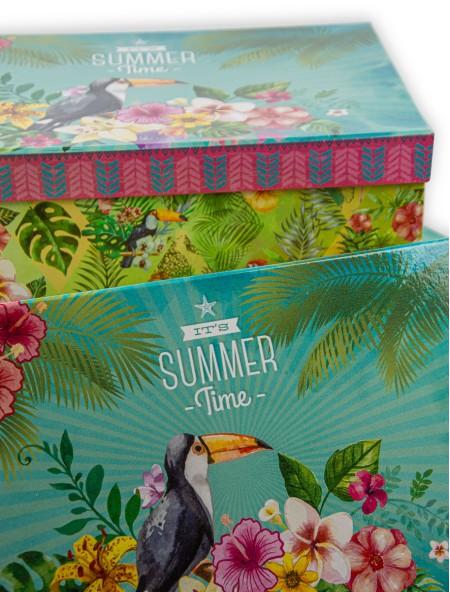 Κουτί χάρτινο αποθήκευσης Summer Time 31x23x13cm