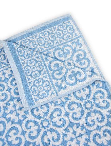 Πετσέτα προσώπου ζακάρ γαλάζιο 50x100cm