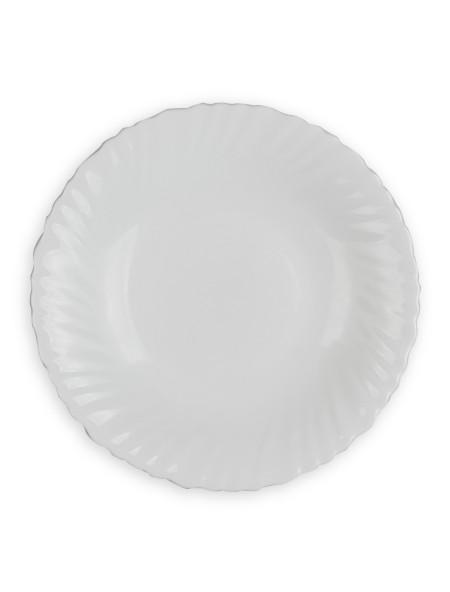 Πιάτο βαθύ λευκό οπαλίνα κυματιστό 22cm