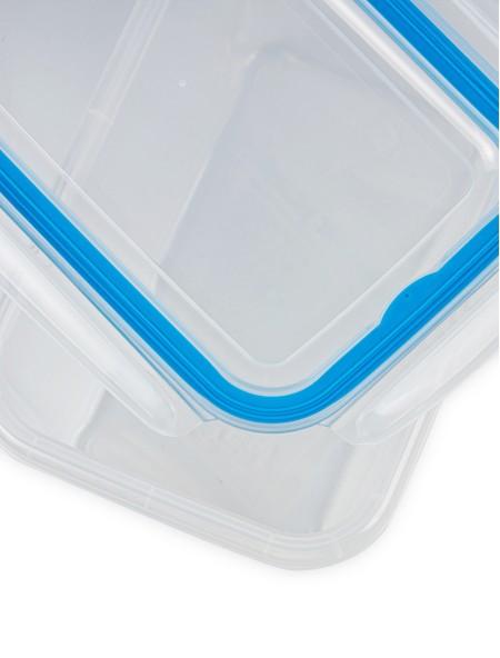 Φαγητοδοχείο πλαστικό με καπάκι κλιπς 2.5L