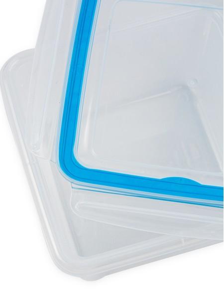 Φαγητοδοχείο πλαστικό με καπάκι κλιπς 1.5L