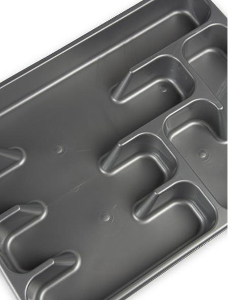 Θήκη συρταριού πλαστική για μαχαιροπίρουνα γκρι