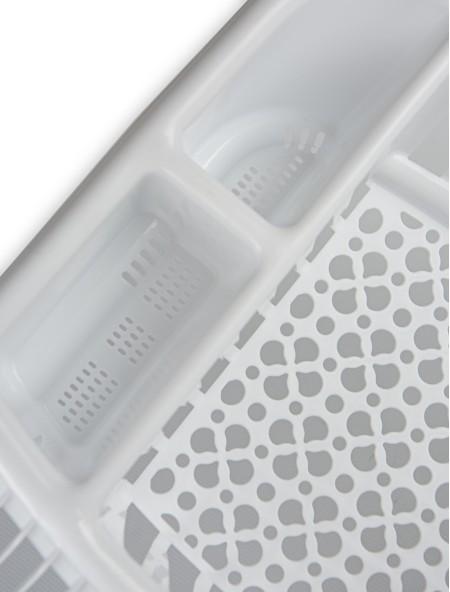Πιατοθήκη πλαστική νεροχύτη λευκό