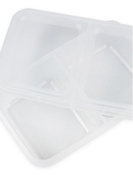 Φαγητοδοχείο πλαστικό διάφανο 2 θέσεων 2.5L
