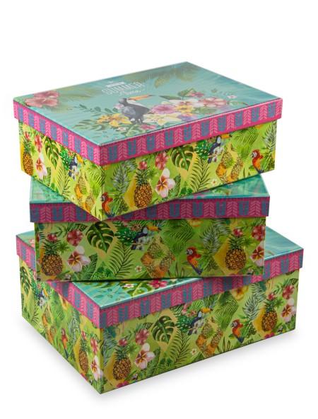 Κουτί χάρτινο αποθήκευσης Summer Time 27x19x9.5cm