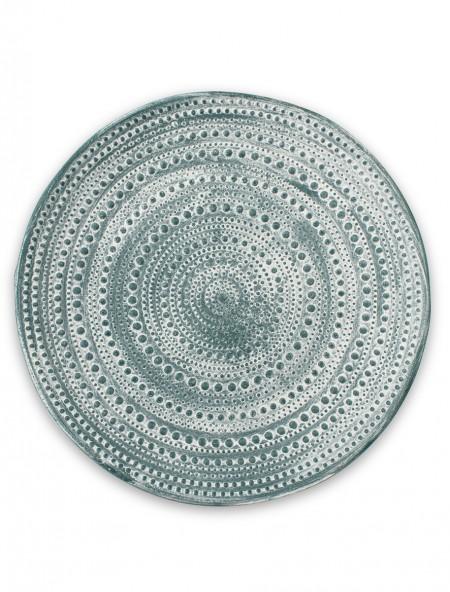 Διακοσμητικός δίσκος με ανάγλυφα σχέδια μπλε