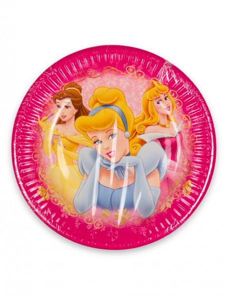 Πιάτα χάρτινα ροζ Disney Princesses σετ 8 τεμαχίων