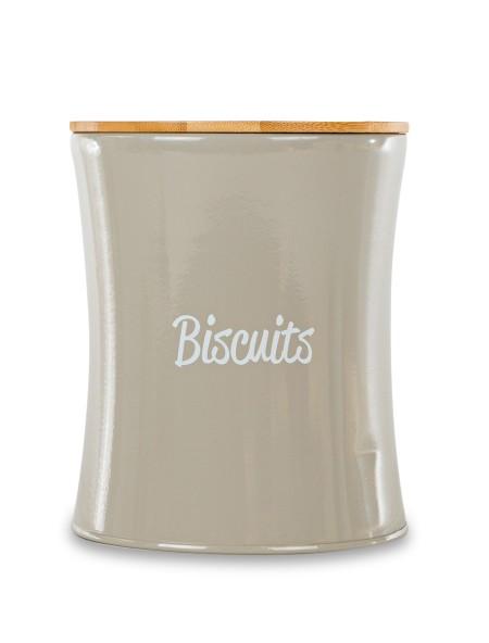 """Δοχείο μεταλλικό """"Biscuits"""" με ξύλινο καπάκι"""