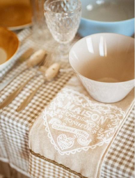Πετσέτα κουζίνας με σχέδιο γκρι