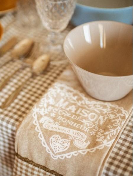 Πετσέτα κουζίνας με σχέδιο μπεζ