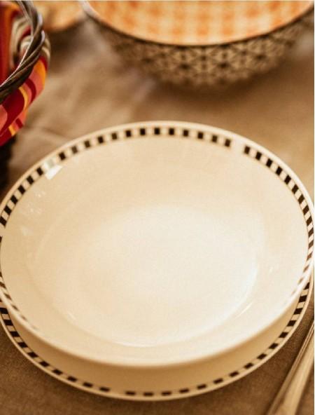 Πιάτο βαθύ κεραμικό καρό