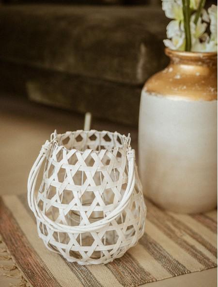Φανάρι διακοσμητικό πλεκτό bamboo