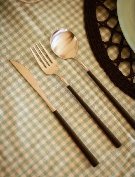 Κουτάλι φαγητού από ανοξείδωτο ατσάλι New Black 22cm