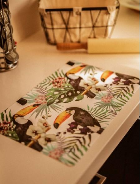 Σουπλά πλαστικό με σχέδιο παπαγάλους