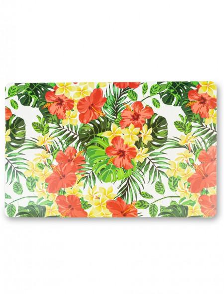 Σουπλά πλαστικό με σχέδιο λουλούδια