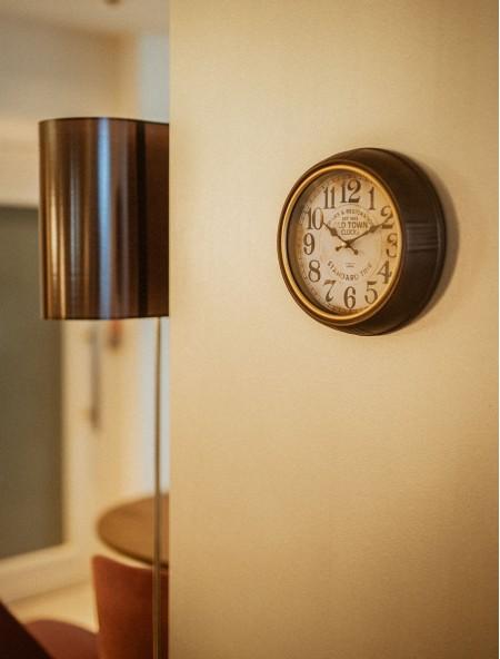 Ρολόι τοίχου Vintage μεταλλικό