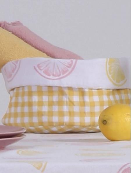 Καλάθι ψωμιέρα Juicy Pink/Yellow 20x15cm NEF NEF