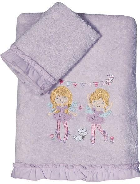 Πετσέτες παιδικές Happy Girls σετ 2 τεμαχίων NEF NEF