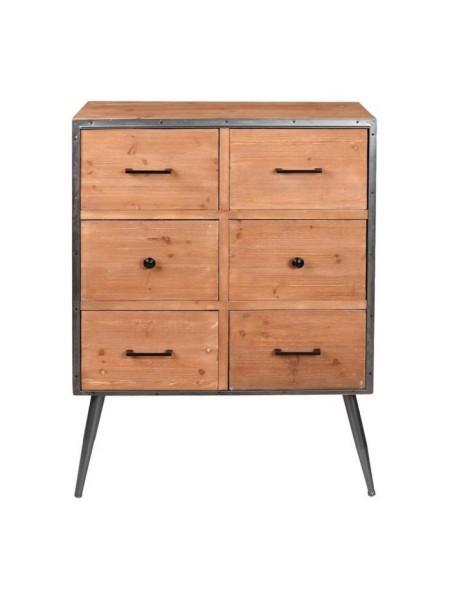 Συρταριέρα ξύλινη με 6 συρτάρια Espiel