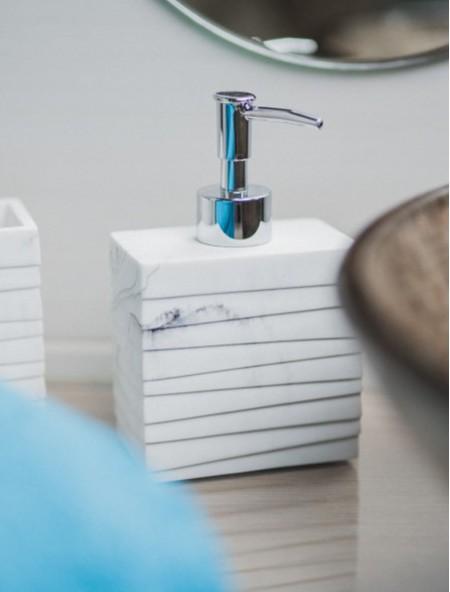Δοχείο για οδοντόβουρτσες κεραμικό με μαρμάρινο ανάγλυφο σχέδιο