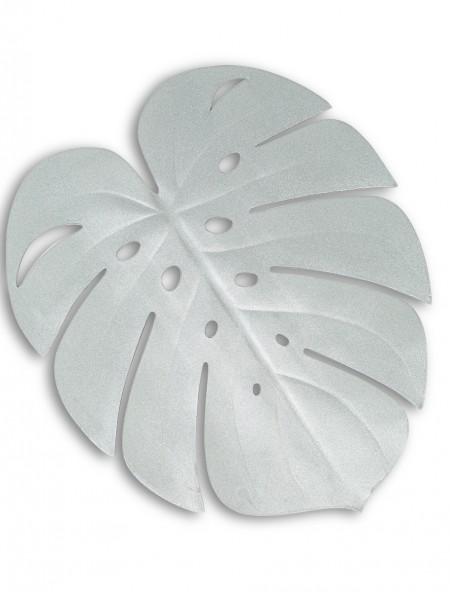 Σουπλά πλαστικό φαγητού σε σχήμα φύλλου ασημένιο