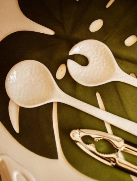 Σουπλά πλαστικό φαγητού σε σχήμα φύλλου πράσινο