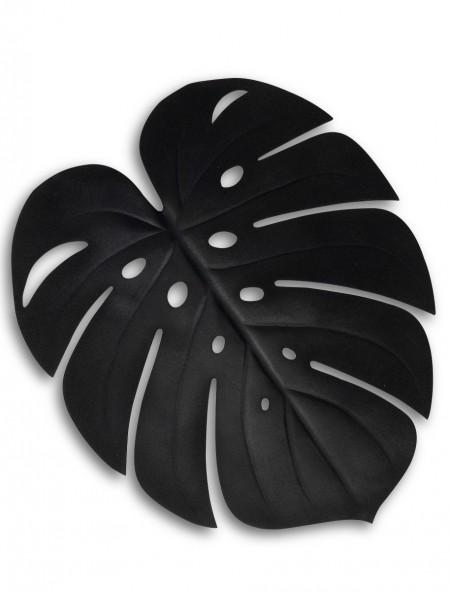Σουπλά πλαστικό φαγητού σε σχήμα φύλλου μαύρο