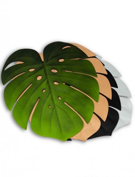 Σουπλά πλαστικό φαγητού σε σχήμα φύλλου μπρονζε