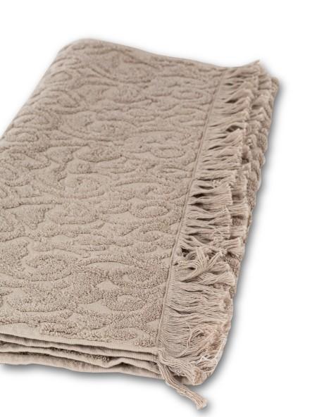 Πετσέτα προσώπου ζακάρ με κρόσια Biancasa