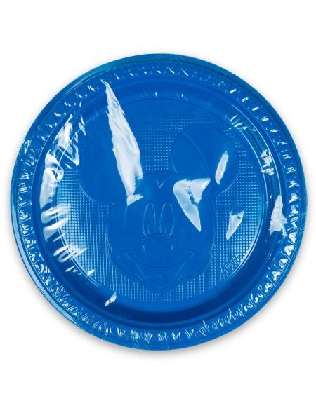 Πιάτα πλαστικά μπλε Disney Mickey Mouse σετ 6 τεμαχίων