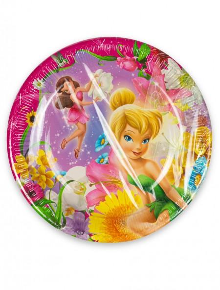 Πιάτα χάρτινα ροζ Fairies Disney σετ 10 τεμαχίων
