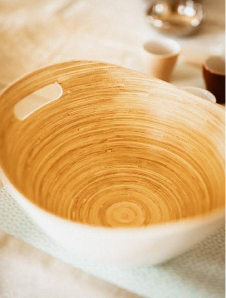 Μπολ από Bamboo λευκό