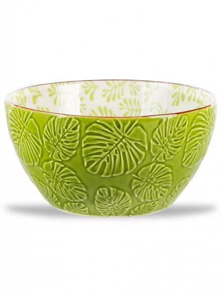 Μπολ πορσελάνης με ανάγλυφα σχέδια πράσινο 12cm