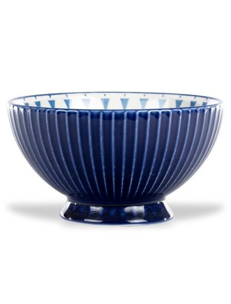 Μπολ πορσελάνης ανάγλυφο με βάση μπλε 16cm