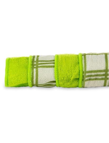 Πετσέτα κουζίνας με μικροϊνες σετ 4 τεμαχίων πράσινη