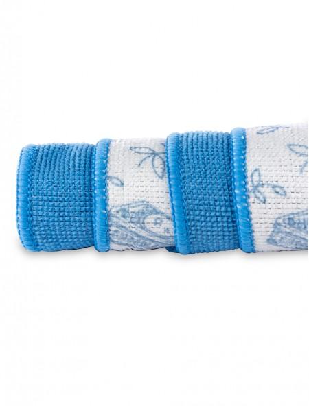 Πετσέτα κουζίνας με μικροϊνες σετ 4 τεμαχίων μπλε