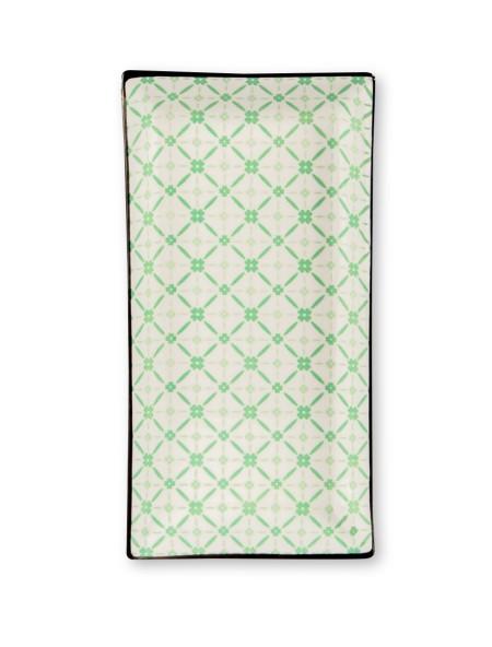 Πιατέλα ορεκτικών κεραμική πράσινο τύπωμα