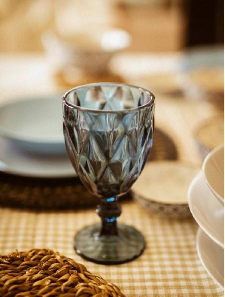 Ποτήρι για κρασί Salute σετ 6 τεμαχίων μπλε