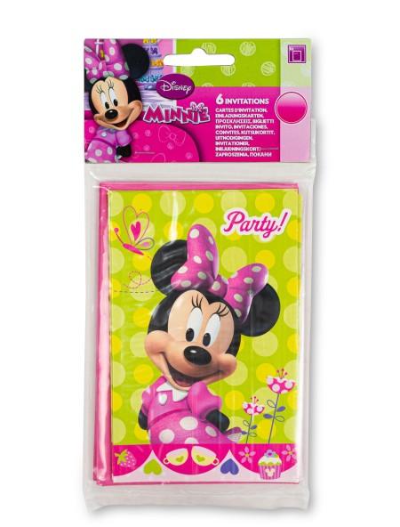 Προσκλήσεις Party Minnie 6 τεμαχίων